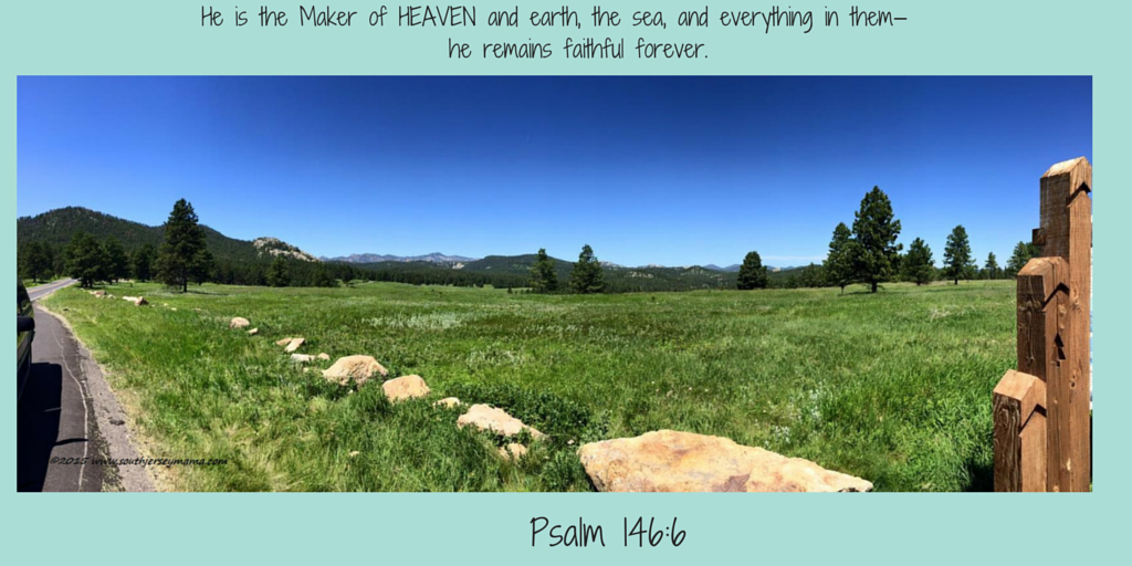 He is the Maker of HEAVEN and earth, the